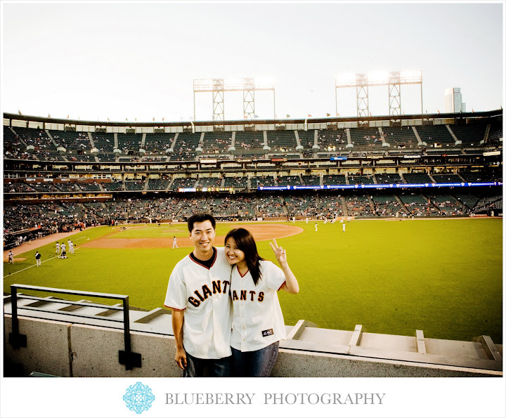 giants baseball game engagement session photographer