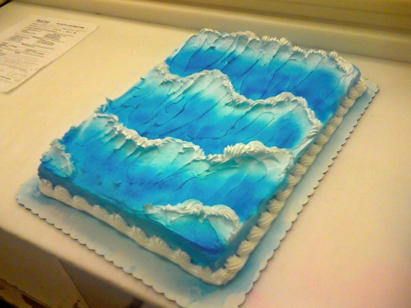 Making Waves On A Cake