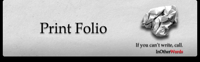 My Print Folio