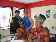 Meus irmãos Pataxós Arassari,  Chauwã e Arauê.