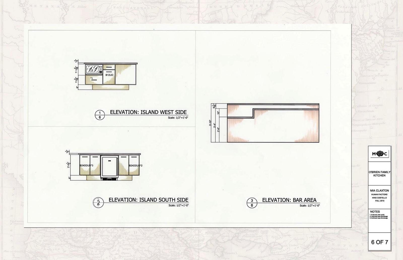 Kitchen Island Elevation universal kitchen | aim to design