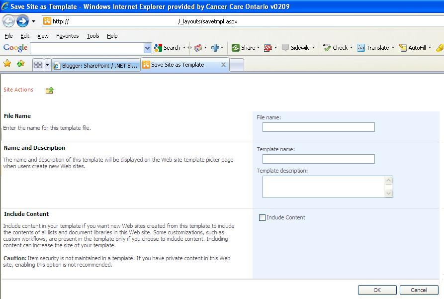 sharepoint net blog save site as template in sharepoint 2010