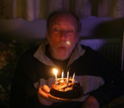 birthday cake 16 candles. Jim with his Birthday Cake