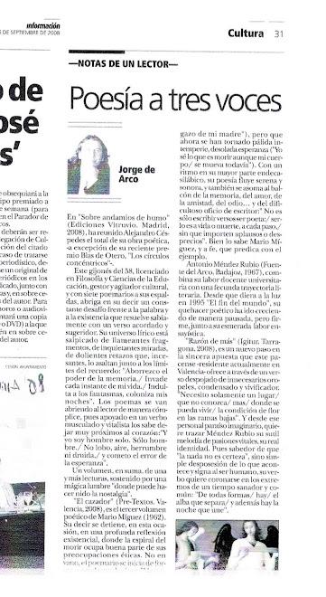 Reseña: Andalucia Información; por Jorge de Arco
