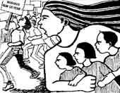 FILIPPINE . UN POSTER CONTRO LA PROSTITUZIONE MINORILE