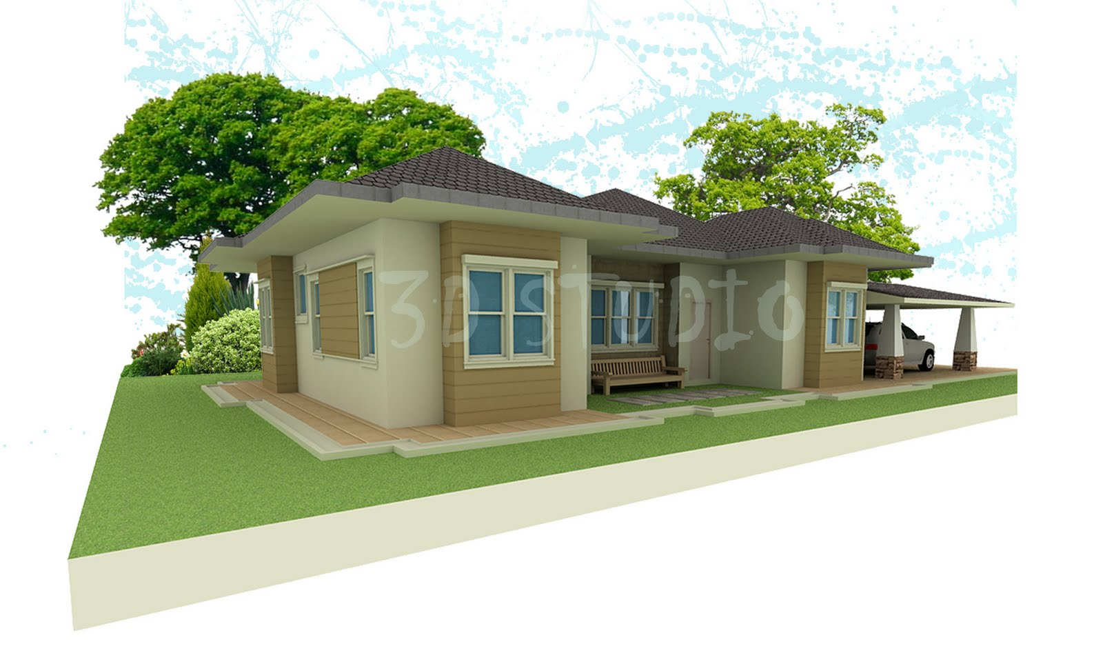 Top 19 photos ideas for single storey bungalow building for Single storey bungalow design