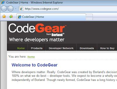 nový web CodeGear