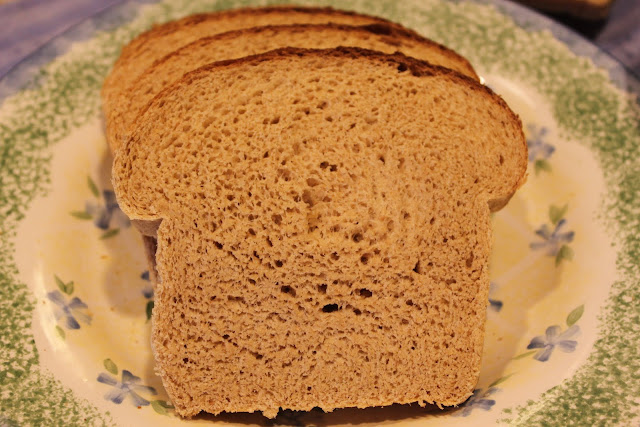 Whole Wheat Bread with Huckleberry Butter