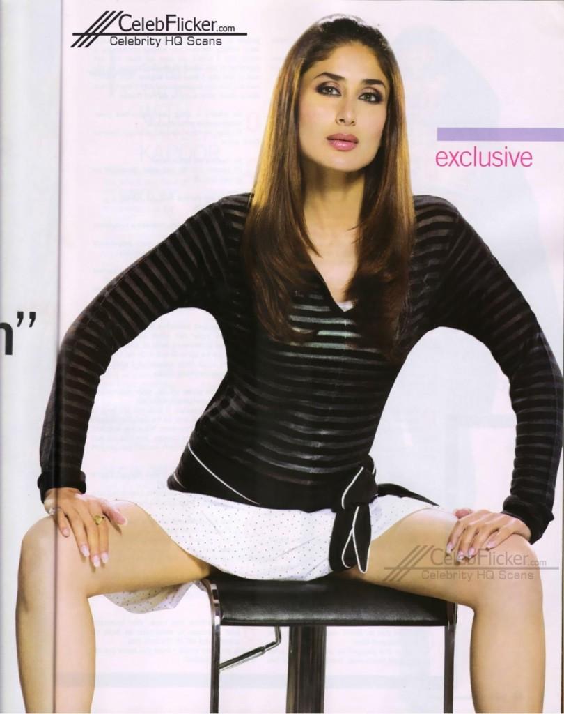 Kareena Kapoor Sexy Short White Skirt
