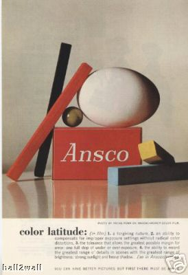 Irving Penn shoots for Ansco film