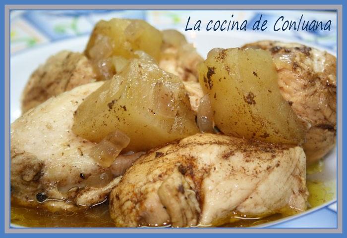 Cocina fcil Pechugas de pollo con salsa dulce de