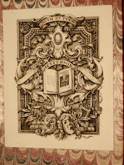 Bookplate with image of First Folio