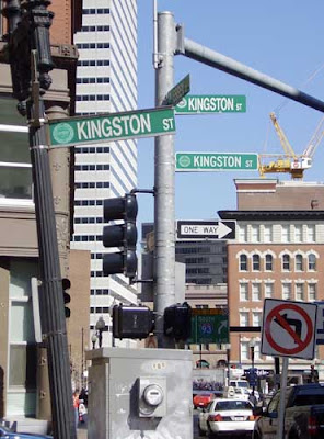 street signs in Boston