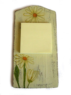 deseczka decoupage - kremowe kwiaty