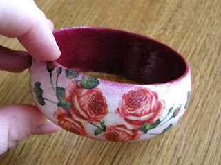 różany ogród - wersja 2 (bransoletka)