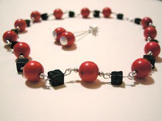 biżuteria z półfabrykatów - dzieło mojej mamy (korale)