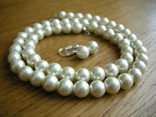 klasyczne perły z półfabrykatów - komplet