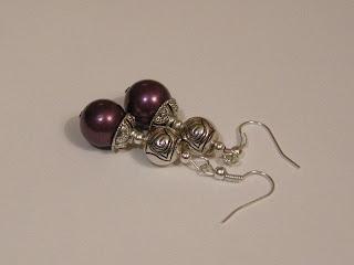 biżuteria z półfabrykatów - perły majorka (kolczyki)