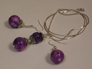 biżuteria z półfabrykatów - koral w baroku (komplet)