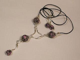 biżuteria z półfabrykatów - howlit zakręcony (komplet)
