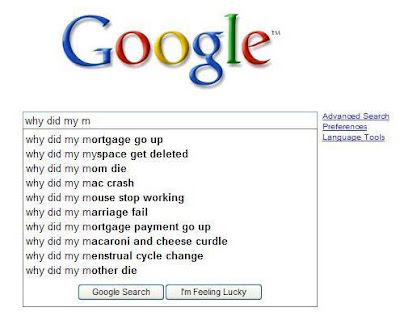 funny google suggestions. Though the first suggestion