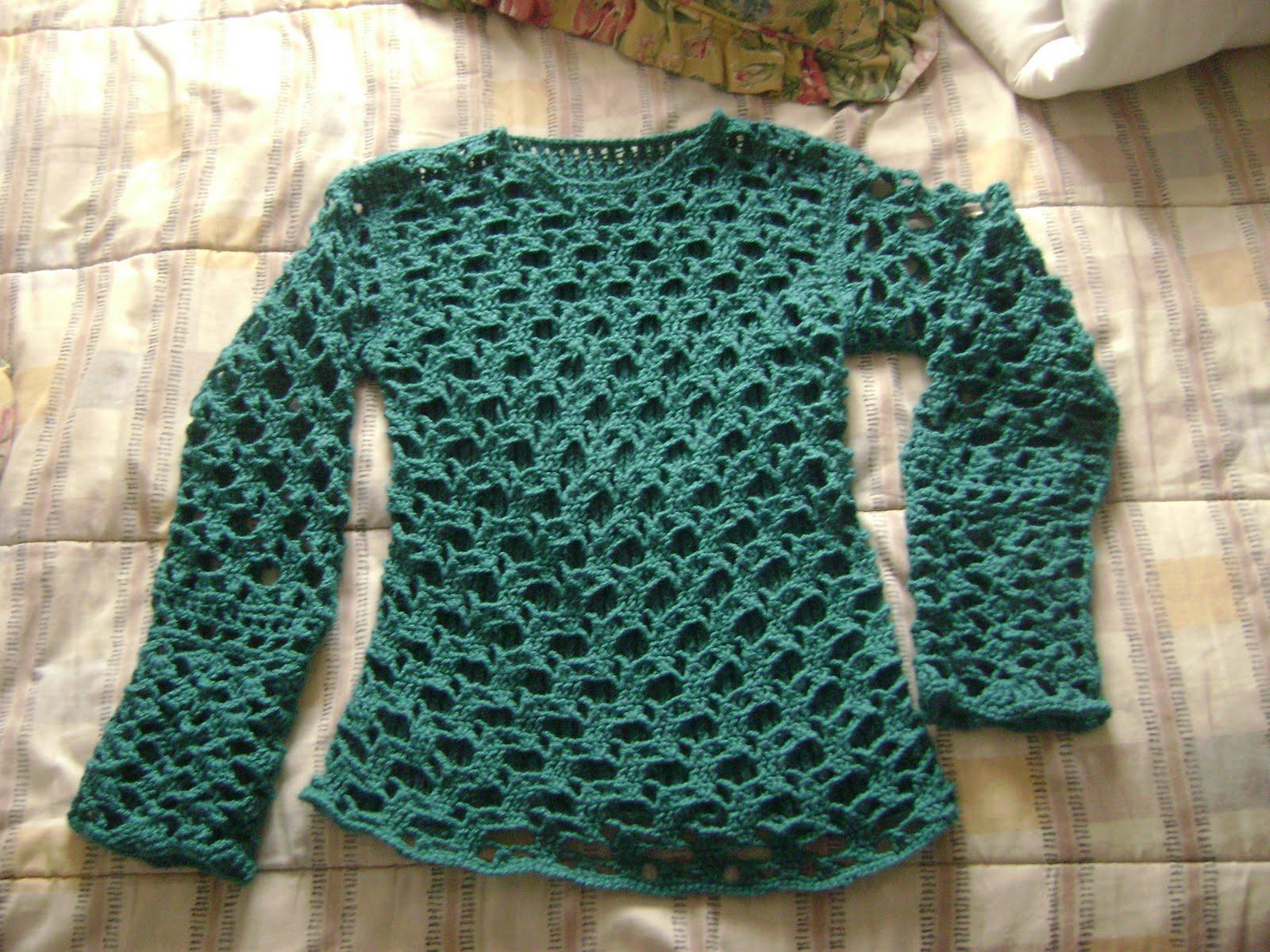 Chaleco tejido con crochet nº4