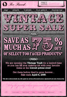 Too Faced's Vintage Super Sale