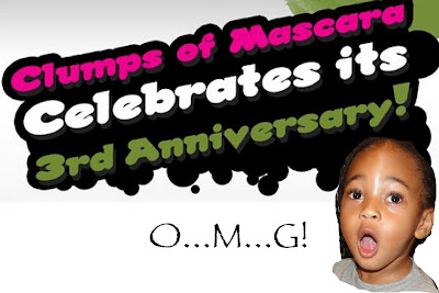 Clumps&#8217; Turns 3: Mascara Giveaway!