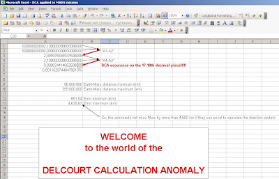 The Delcourt Calculation Anomaly - click to enlarge