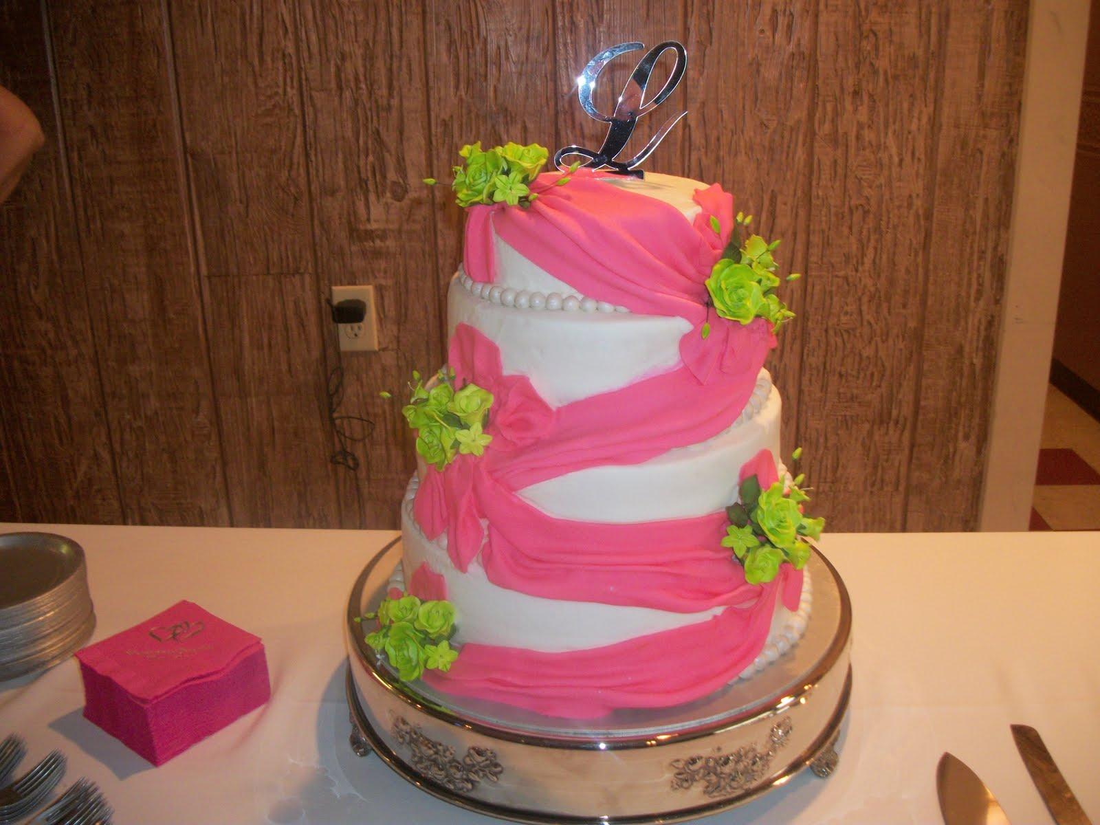 Tasty Cakes: Neon Pink & Green Wedding Cake