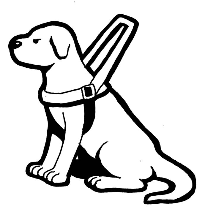 Show Me More Guide Dogs Colouring Pages Sketch Template