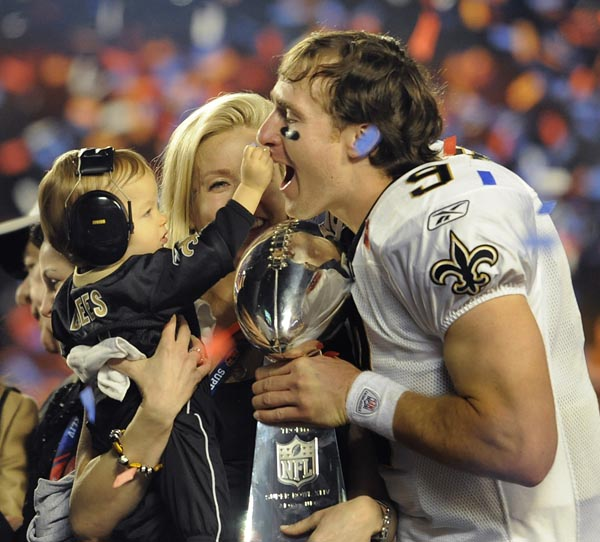 Drew Brees and son