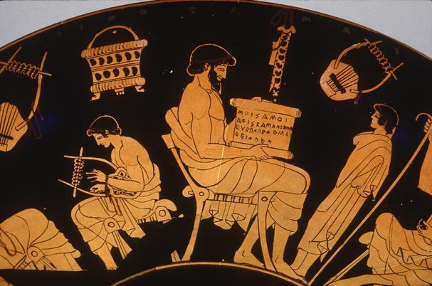 La particularidad de la música de la Grecia Antigua, era que los
