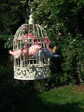 Handmade textile birds