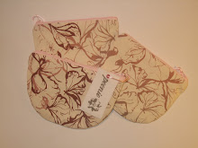 Handprinted Semi-circle Purses