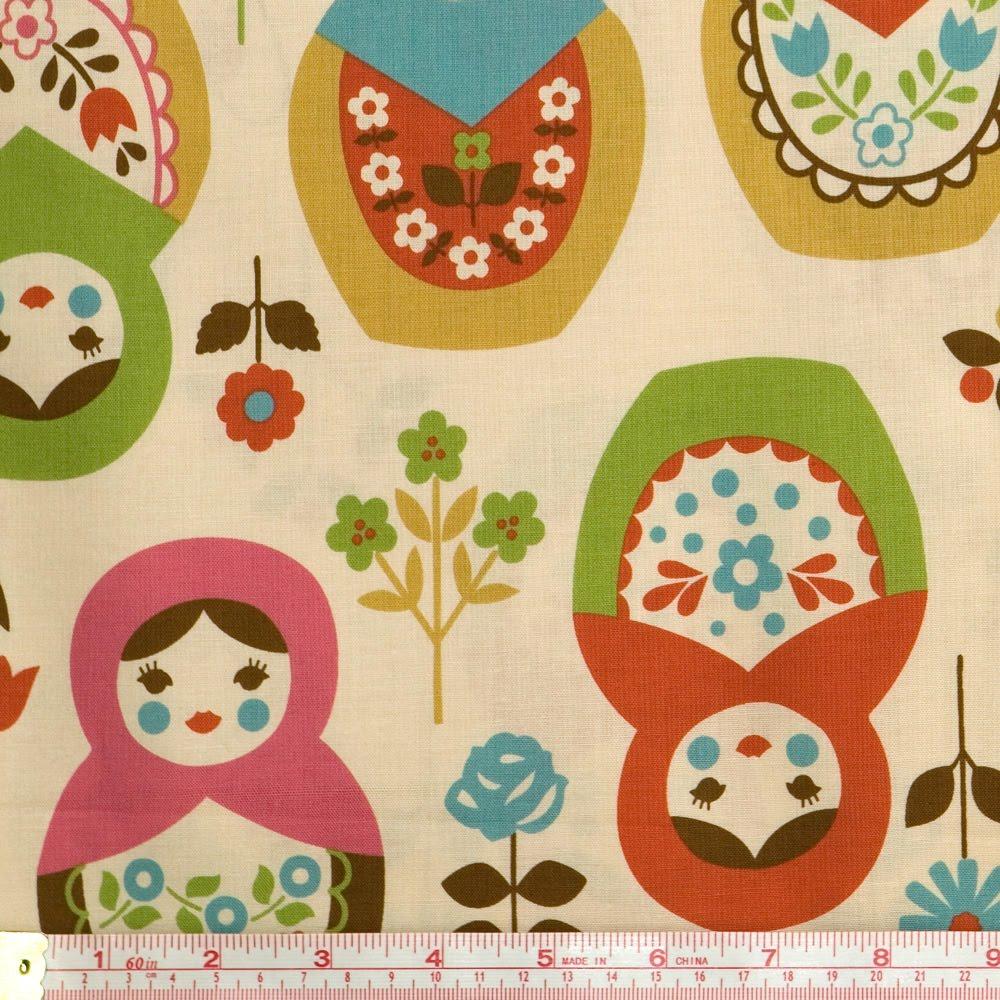 Mybotang fabric scrap series cards - Among The Many Matroyshka Fabric Patterns Out There I D Have To Say Trefle Kokka Russian Matroyshka Nesting Dolls Is My Favourite