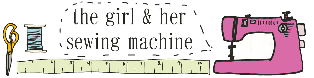 the girl and her sewing machine