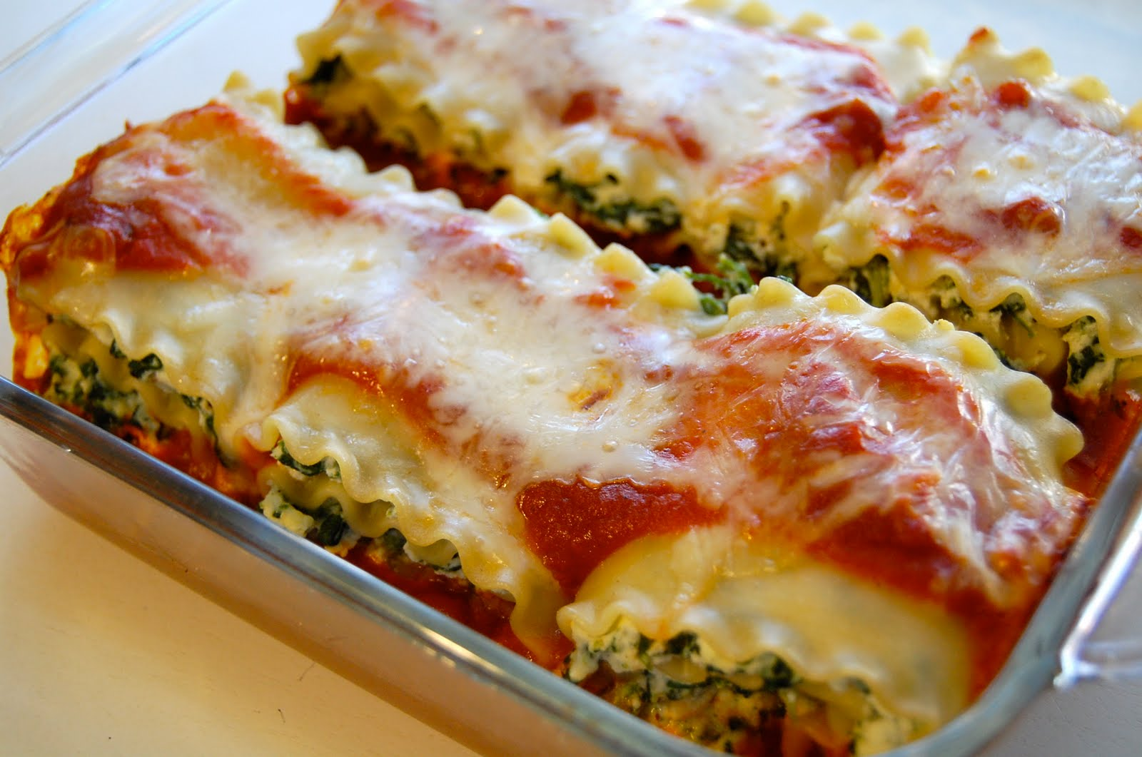 Spinach Lasagna Rolls Recipes — Dishmaps