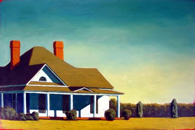 kenneth eugene peters farmhouse sun painting