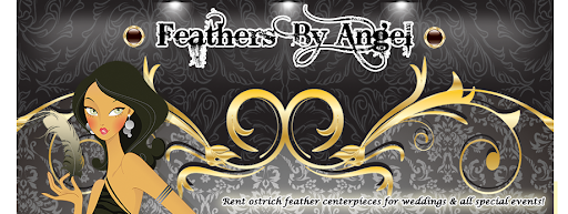 Feathers By Angel- Rent Ostrich Feather Centerpieces