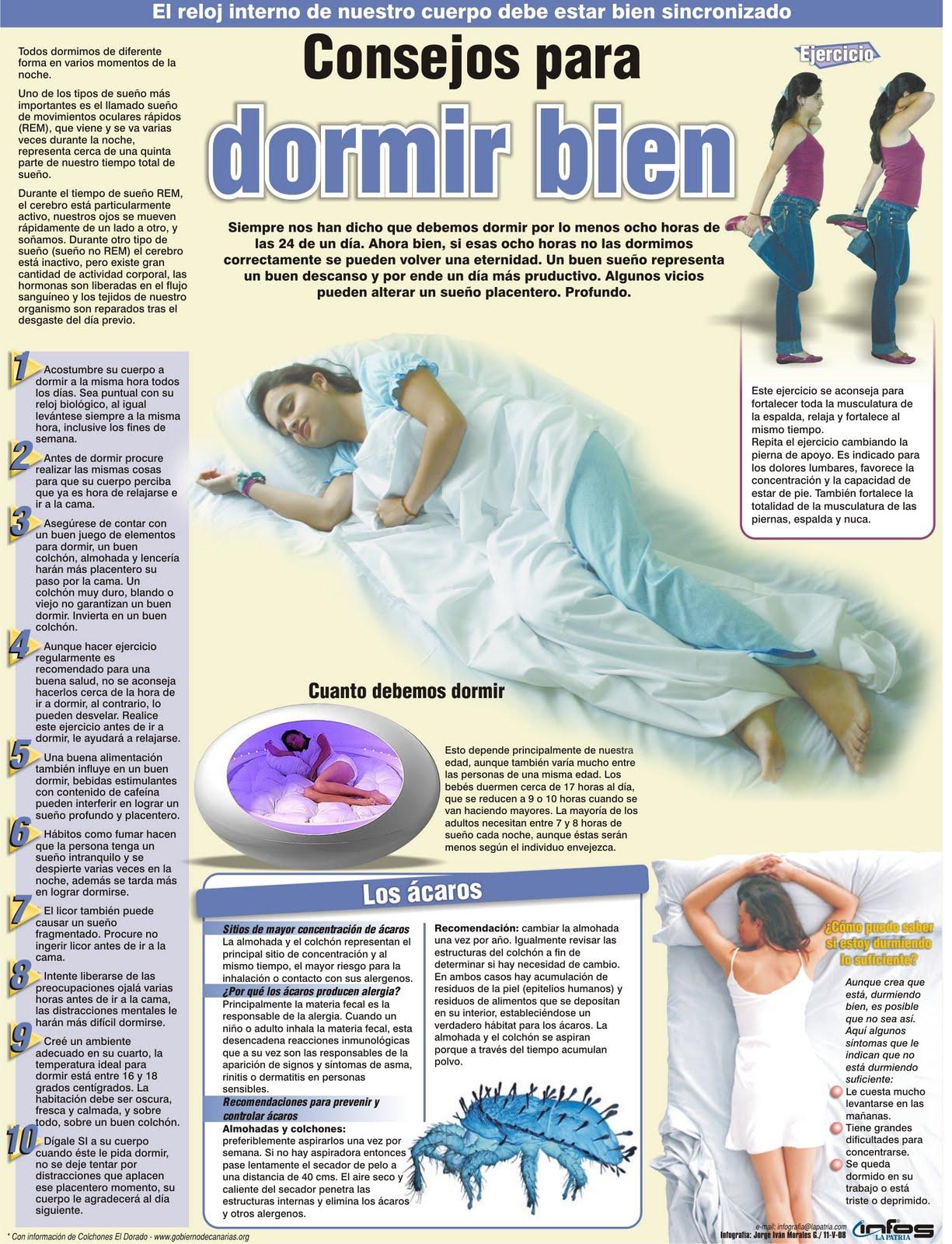 Infografia jorge morales consejos para dormir bien - Soluciones para dormir bien ...