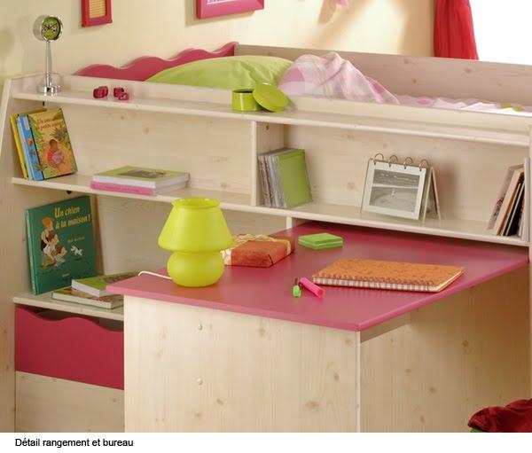 Dormitorio dise o de chloe para ni as cama escritorio y organizador en dos metros de espacio - Escritorios de ninas ...