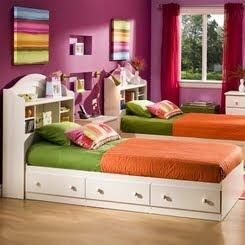 Dormitorios infantiles recamaras para bebes y ni os for Cuartos para ninas gemelas