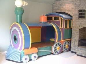 Dormitorios infantiles recamaras para bebes y ni os cama - Camas tren para ninos ...