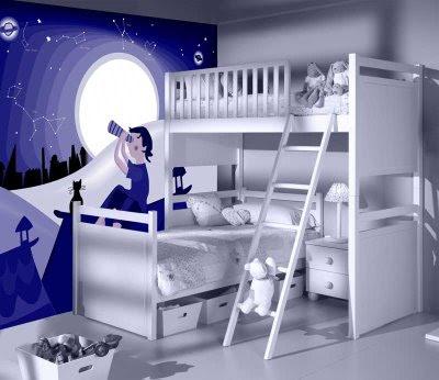 Dormitorios infantiles recamaras para bebes y ni os for Pegatinas para decorar habitaciones infantiles