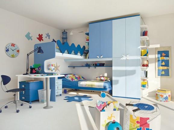 Dormitorio minimalista para ni os y ni as decoraci n de - Dormitorio infantil nino ...