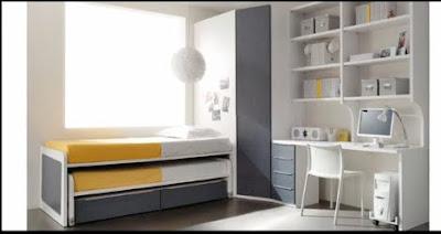 Dormitorios infantiles recamaras para bebes y ni os dormitorios minimalistas para dos ni os - Habitaciones infantiles dobles poco espacio ...