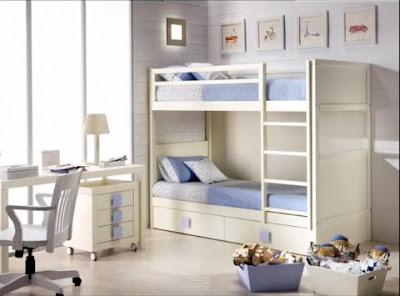 Dormitorios infantiles recamaras para bebes y ni os - Habitaciones infantiles dobles poco espacio ...