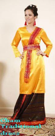 Kiều Hải Yến in Cham Pandurangga traditional costumes