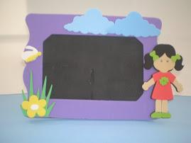 porta retrato menina